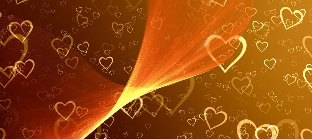 heart, banner, header